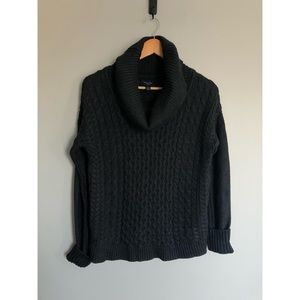 American Eagle Grey Knitted Cowl Neck Sweater